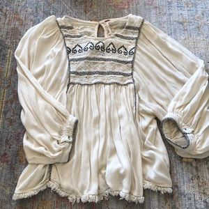 Free people tip ivory black size L